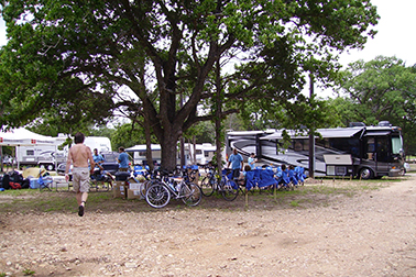 Giddings Texas bike Trails at South Forty RV Park
